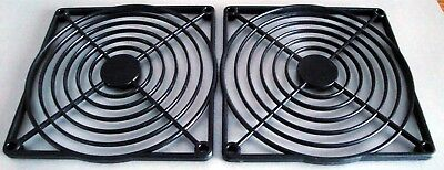 (2) Plastic Fan Guards for 120mm Axial Fans - Qualtek 09120-G