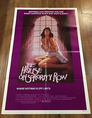 THE HOUSE ON SORORITY ROW Original US One Sheet Movie Poster, HORROR
