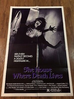 THE HOUSE WHERE DEATH LIVES Original US One Sheet Movie Poster, HORROR