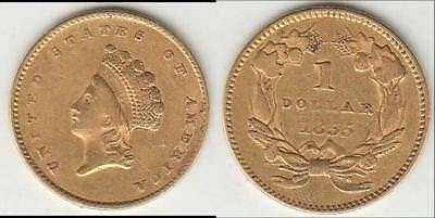1855 Type 2 Gold Dollar Xf+