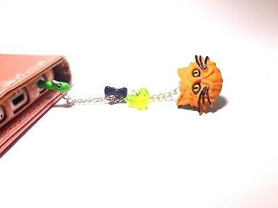 handmade dust plug charm for iphone android keychain orange kitten fashion
