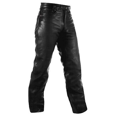 Biker Jeans Trousers Cruiser leather Motorbike Motorcycle Pants All Sizes