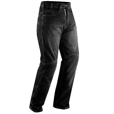 Jeans CE Armored Motorcycle Motorbike Scooter Quad Pants Trousers Denim Black