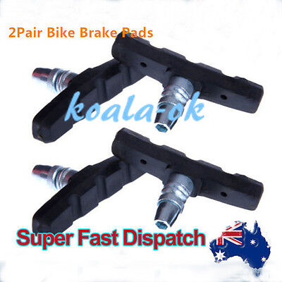 2 X PAIR STANDARD Bicycle V-BRAKE PADS for hybrid/Comfort/Mountain Bikes CO