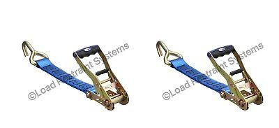 (2 Pack) Heavy Duty Car Carrying Ratchet & Tail, Tilt Tray, Tow Strap, LC 2000KG