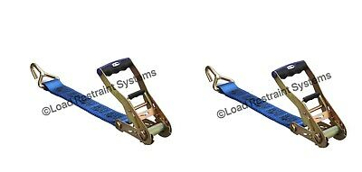 (2 Pack) Light Duty Car Carrying Ratchet & Tail, Tilt Tray, Tow Strap, LC 1200KG