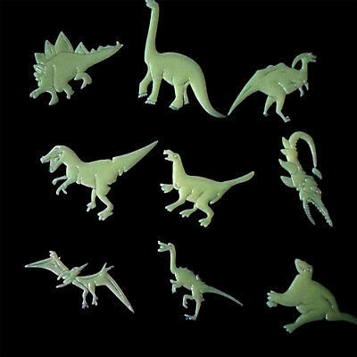 9PCS Glow In The Dark Night Dinosaurs Stickers Home Wall Bedroom Decals Decor WL