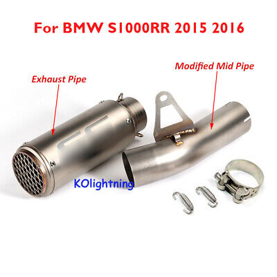 Motorcycle Exhaust Full System Pipe Baffler & Middle Pipe For BMW S1000RR 10-14
