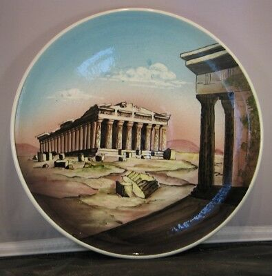 "*11 1/2"" Vintage Greek Parthenon Handmade in Greece Decorative Plate Kutahia"