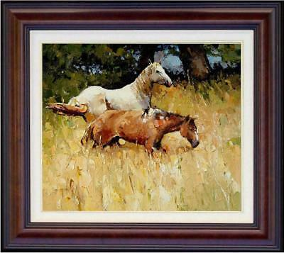 """Hand-painted Original Oil painting art animal knife horse On Canvas 20x24"""""""