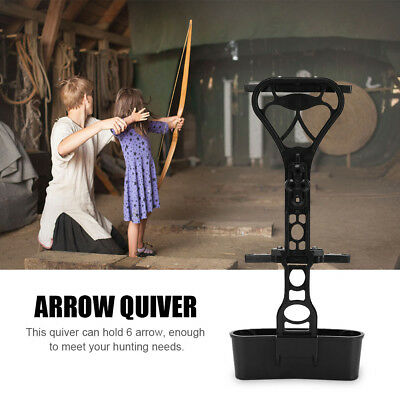 Quick Detach Archery 6 Arrow Quiver Bow Holder for Compound Bow Hunting Black GL