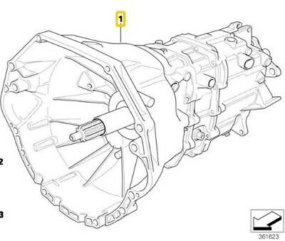 V Getrag 250G Manual 5 Sp Transmission Bmw 23001434410 E36 325I June 1995 M50 6