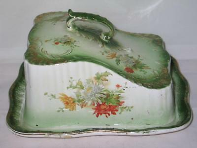 Antique Winton Grimwades Stoke Trent Englnd Porcelain Covered Cheese Butter Dish