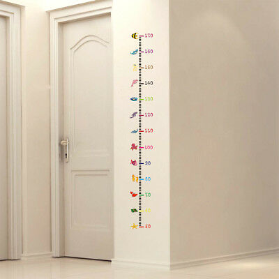 Measure Wall Stickers For Kids Room Height Chart Ruler Decals Nursery Home Decor