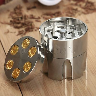 "Alloy 3 Layers 1.61"" Dia Tobacco Crusher Hand Muller Herb Spice Grinder Storage"
