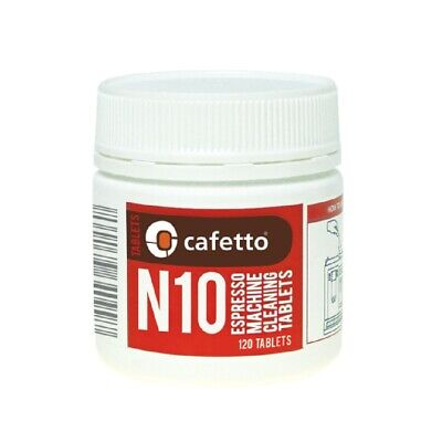 NEW CAFETTO N10 ESPRESSO MACHINE CLEANING TABLETS 50 Coffee Clean Auto Jar