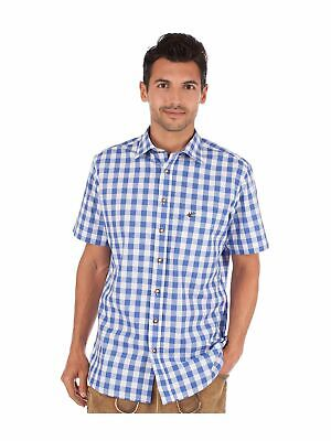 Orbis Traditional Shirt Check short Sleeve Sonnenblick Blue