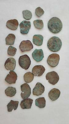 1 Lot Of 26 Byzantine Bronze Cup Coins