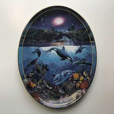 Rainbow Sea Above and Below Christian R Lassen The Bradford Exchange Plate