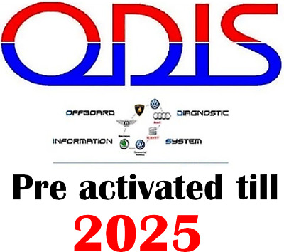 Odis-S 4.2.3 For VAS With All VAG Cars, Preactivated till 2025 Easy To Install !