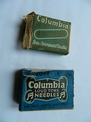 Two Columbia Cardboard Needle Boxes