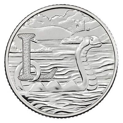 2018 L - Loch Ness Monster Uk 10P Early Strike Uncirculated Coin