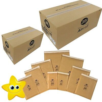 Genuine Jiffy Padded Envelopes Airkraft Bags *All Sizes* - Gold