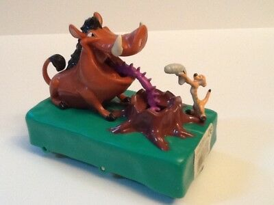 Disney Lion King Roll-a-long Animated Pumbaa & Timon Toy Applause
