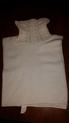White Mock Turtleneck Dickey, To Put Under Sweaters, Vintage, One Size