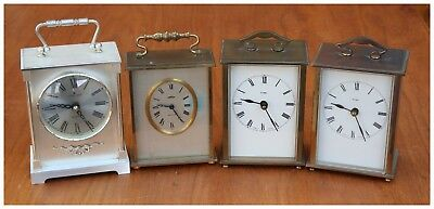 Vintage several of Mantle Quartz Clocks.