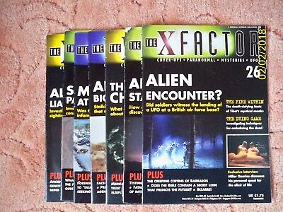 THE X FACTOR Paranormal Magazines  x  7  - 1997.