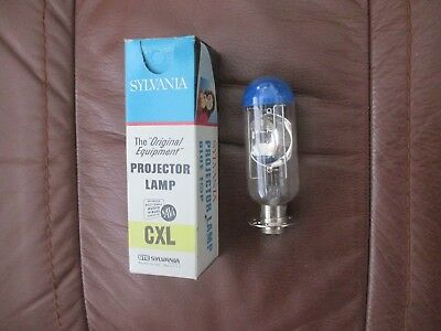 NIB Sylvania CXL 50 Watt 8 Volt 25 Hour Film Movie Projector Bulbs Lamps 50W 8V