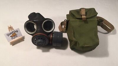 British Military No4 MK2 Gas Mask with Carry Case Bag 'antique vintage rare'