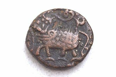 Rare Old 1811-33 India, Indian Princely States Mysore 20 Cash Coin - Elephant!