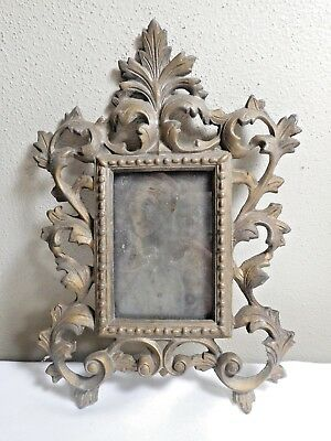 Vintage  Cast Iron Metal Ornate Photo Frame