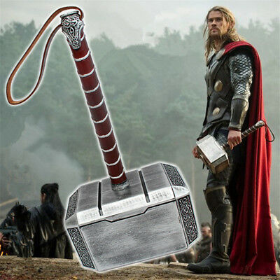 Hot Marvel's The Avengers Thor The Dark World Hammer Mjolnir Resin Cosplay Props