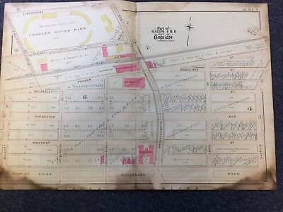 1903 Cambridge, Massachusetts Map, MIT Site, Authentic Map