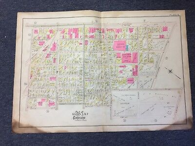 1903 Cambridge, Massachusetts Map, Central Square, Ward 6/7