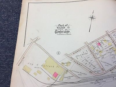 1903 Cambridge, Massachusetts Map, Vassar Street Area, Ward 6/7, Authentic Map