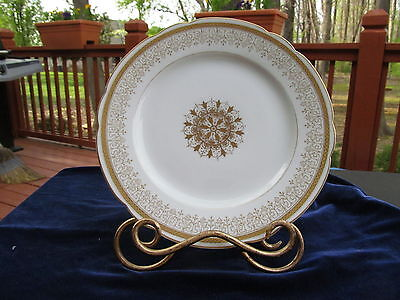 Very Rare Burley & Company Chicago Plate With Gold Decoration Numbered On Back