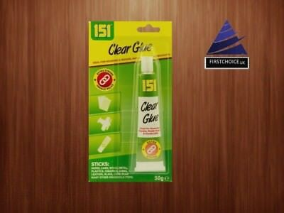 New 151 STRONG CLEAR GLUE 50G METAL PAPER WOOD GLASS  FABRIC, CERAMICS etc