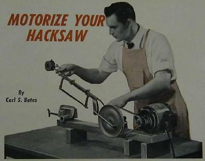 Power Hacksaw How-To build PLANS Simple Design Easy Build
