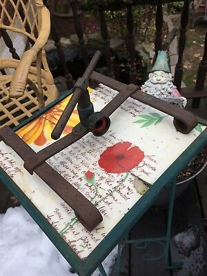 Antique cast iron and brass lawn sprinkler 20s