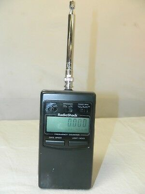 Radio Shack HandHeld LCD RF Frequency Counter Model 22-306 Portable