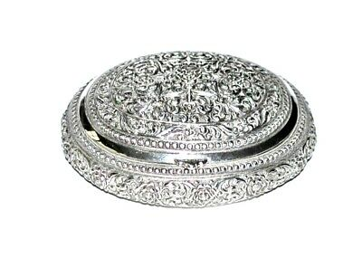 Antique Indian Silver Snuff Box South East Indian Burmese 19th c
