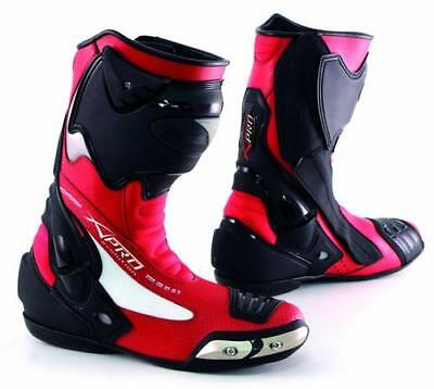 Racing Sport Track Boots Road runner Performance Mototcycle Motorbike  Red 41