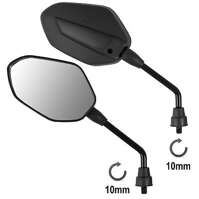 Mirrors Rearview Scooter Motorcycle Moped Motorbike Handlebar Universal M10