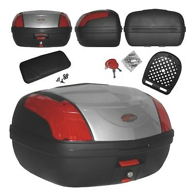 Top Case Box 46 LT Universal backrest Quick Relase Motorcycle Scooter Luggage