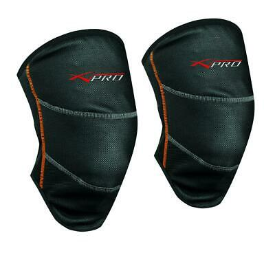 Thermal Textile Knee Warmers Motorbike Motorcycle Scooter Chill Out Black