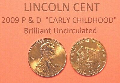 2009 P&d Uncirculated Lincoln Bicentennial Cent Penny Set - Early Childhood